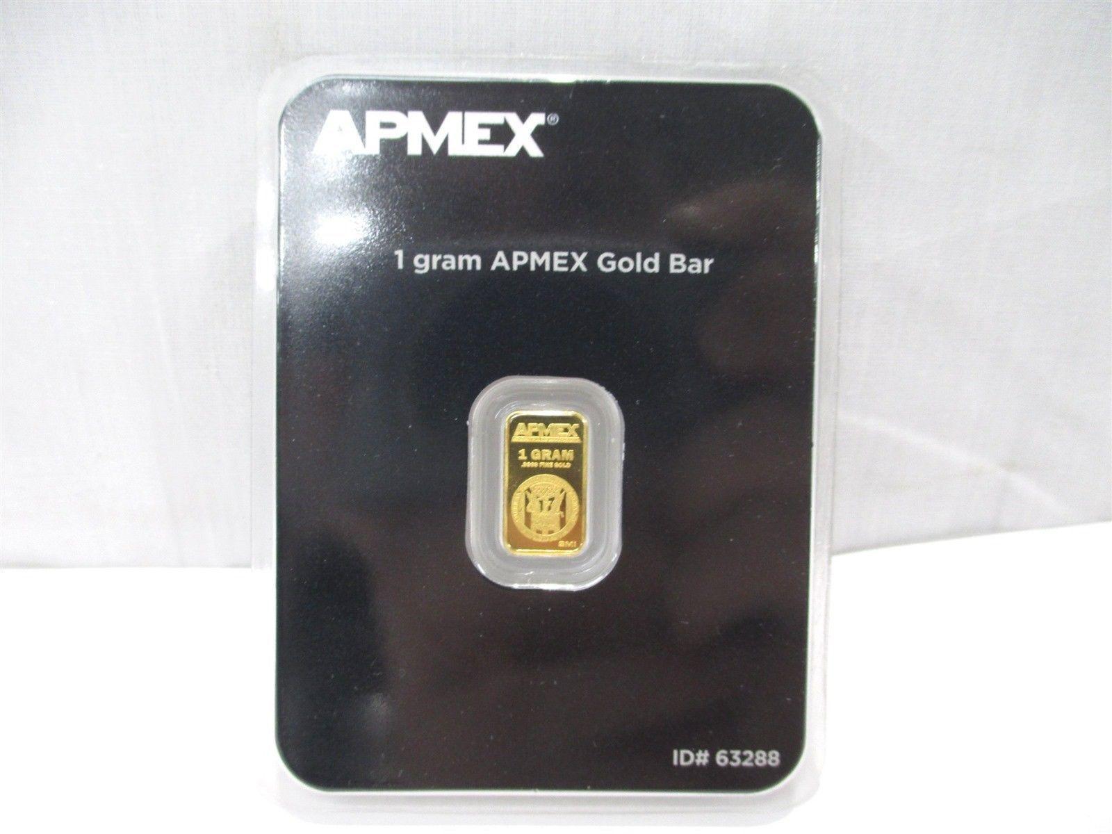 1 Gram .9999 Fine Gold Bullion Bar