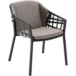 Photo of Solpuri Basket Dining armchair incl. Stripes Graphite Solpuri seat / back cushion