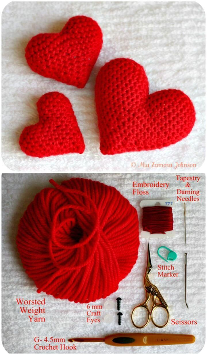 94 Free Crochet Patterns for Valentine\'s Day Gifts | Pinterest ...