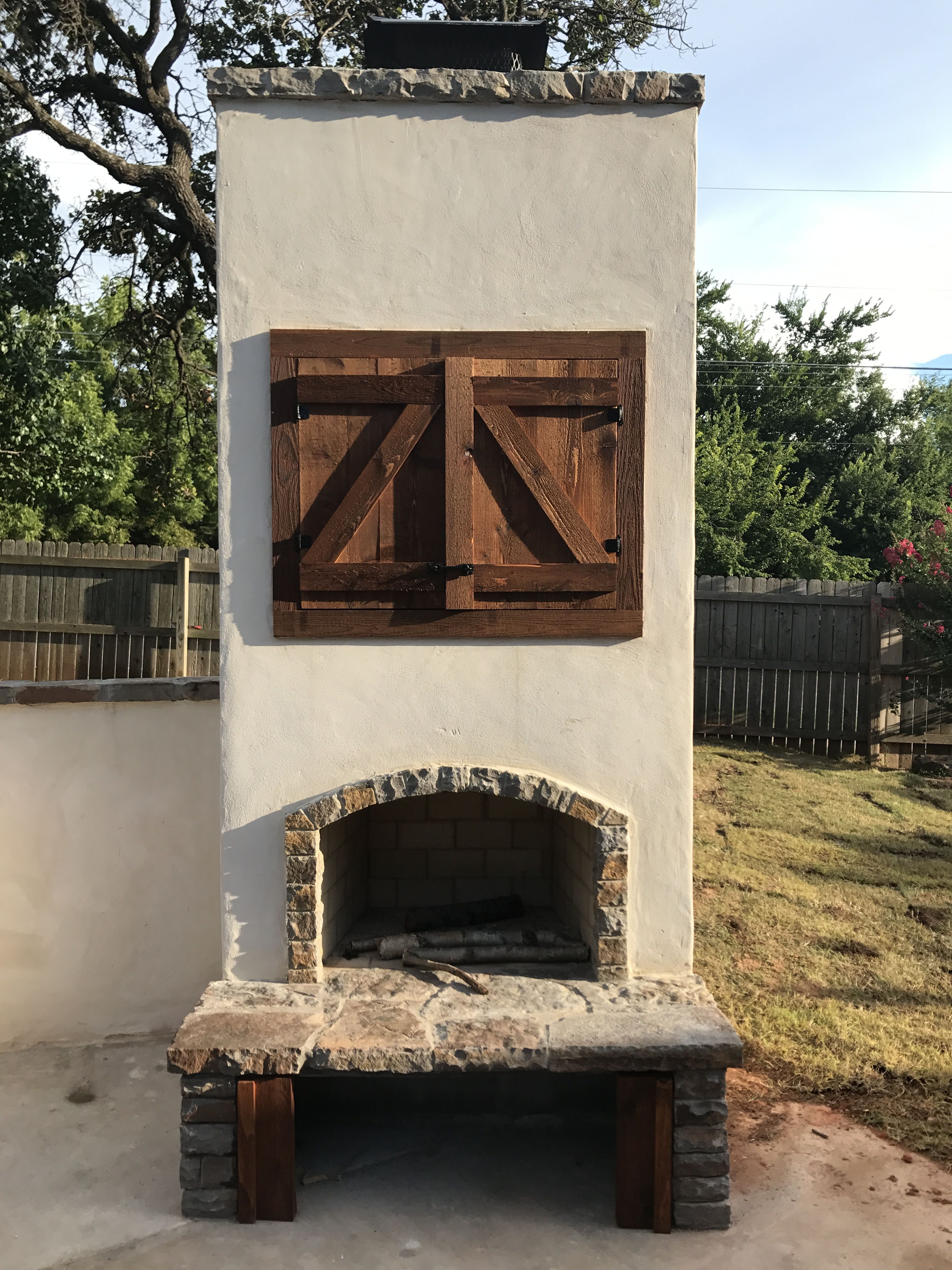 Pin by PMHOKC.com on Custom Outdoor Fireplaces | Custom ... on Simple Outdoor Brick Fireplace id=78042