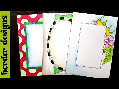 Easy border designs on paper project work borders for also rh pinterest