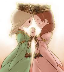 Janice And Melina Characters From The Professor Layton Movie