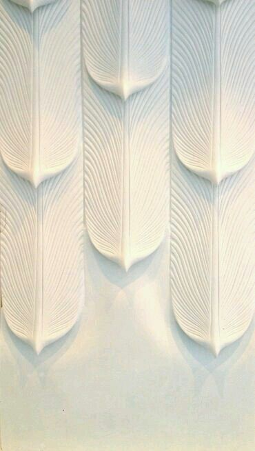 White feathers.