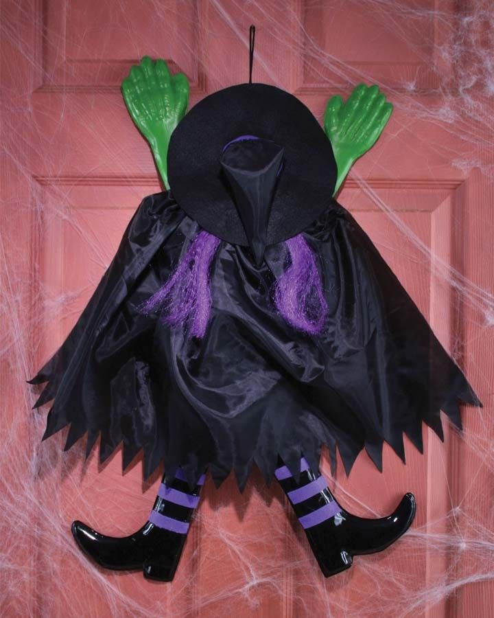 Purple Wrong Way Witch Decoration Fall Pinterest Witches and - witch decorations