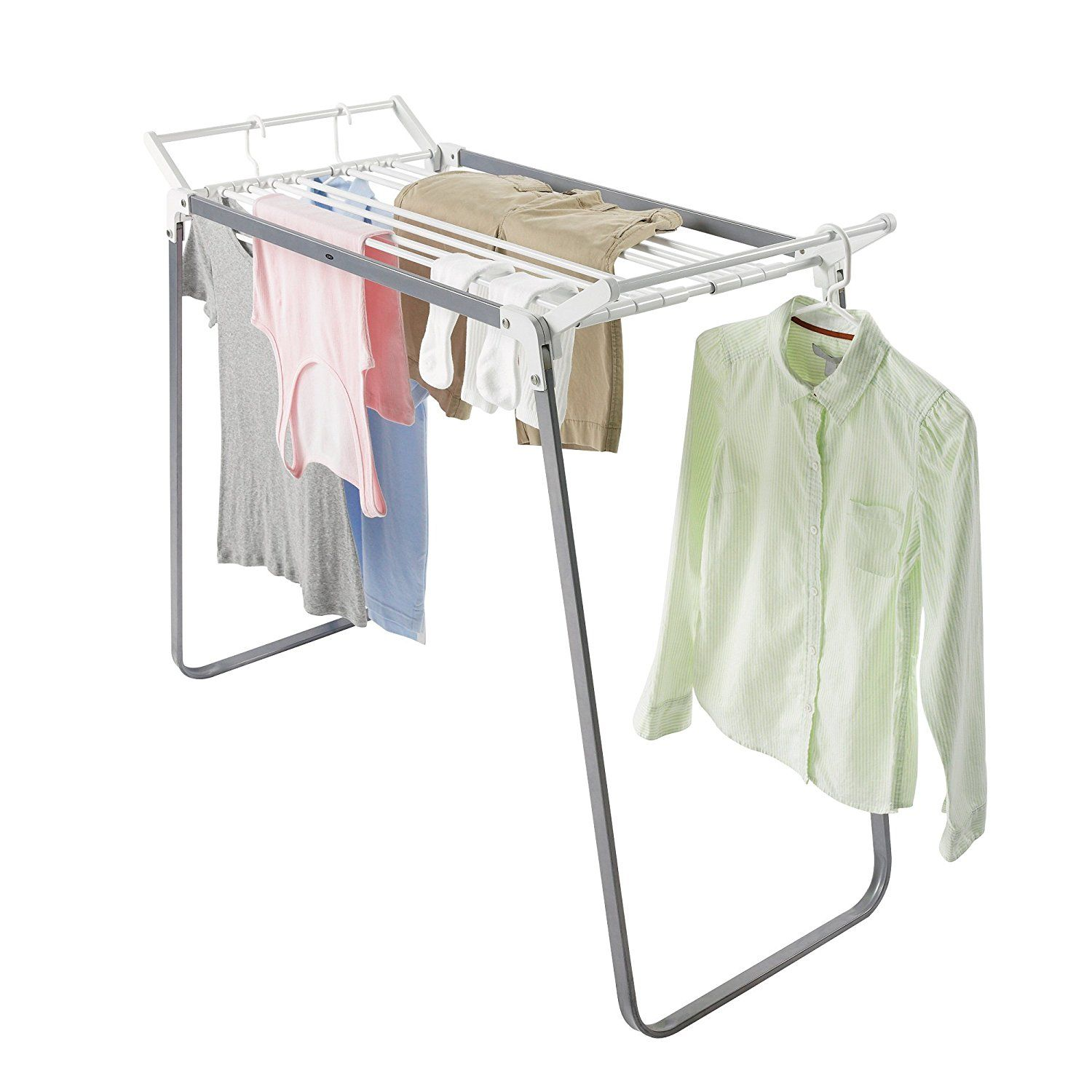 Stainless steel Small Folding Clothes Drying Rack For Dorm, Camping and RV.  Supports upto