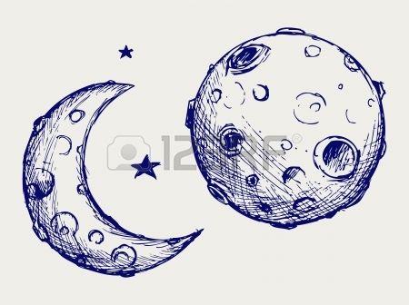 25++ Moon sketches ideas