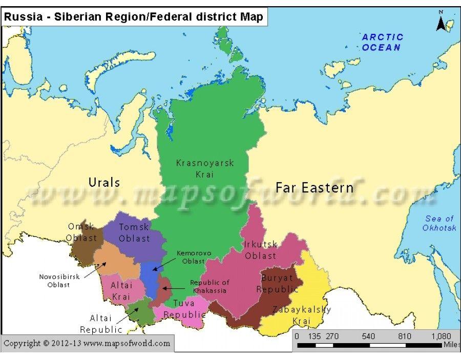 Cartina Siberia Russia.Buy Russia Siberian Region Map Map Asia Map Russia