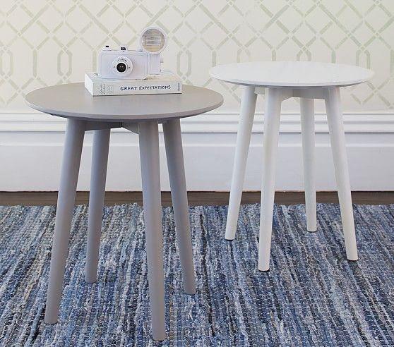 Modern Spindle Side Table In 2020 Modern Side Table Nursery