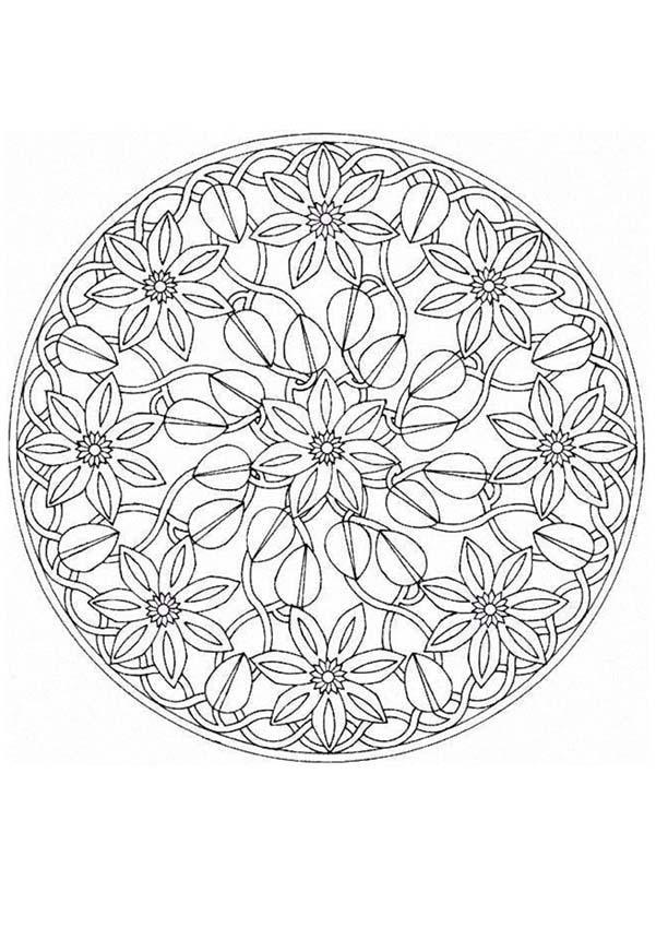 mandala coloring pages advanced level mandalas for experts mandala 67