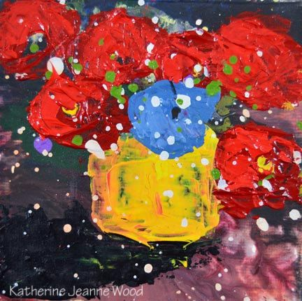 Giclee Print Cottage Chic Floral Still Life Painting Wall Art Prints Red Flowers Bedroom Wall Decor Mother Gift for Sister No 166 - pinned by pin4etsy.com