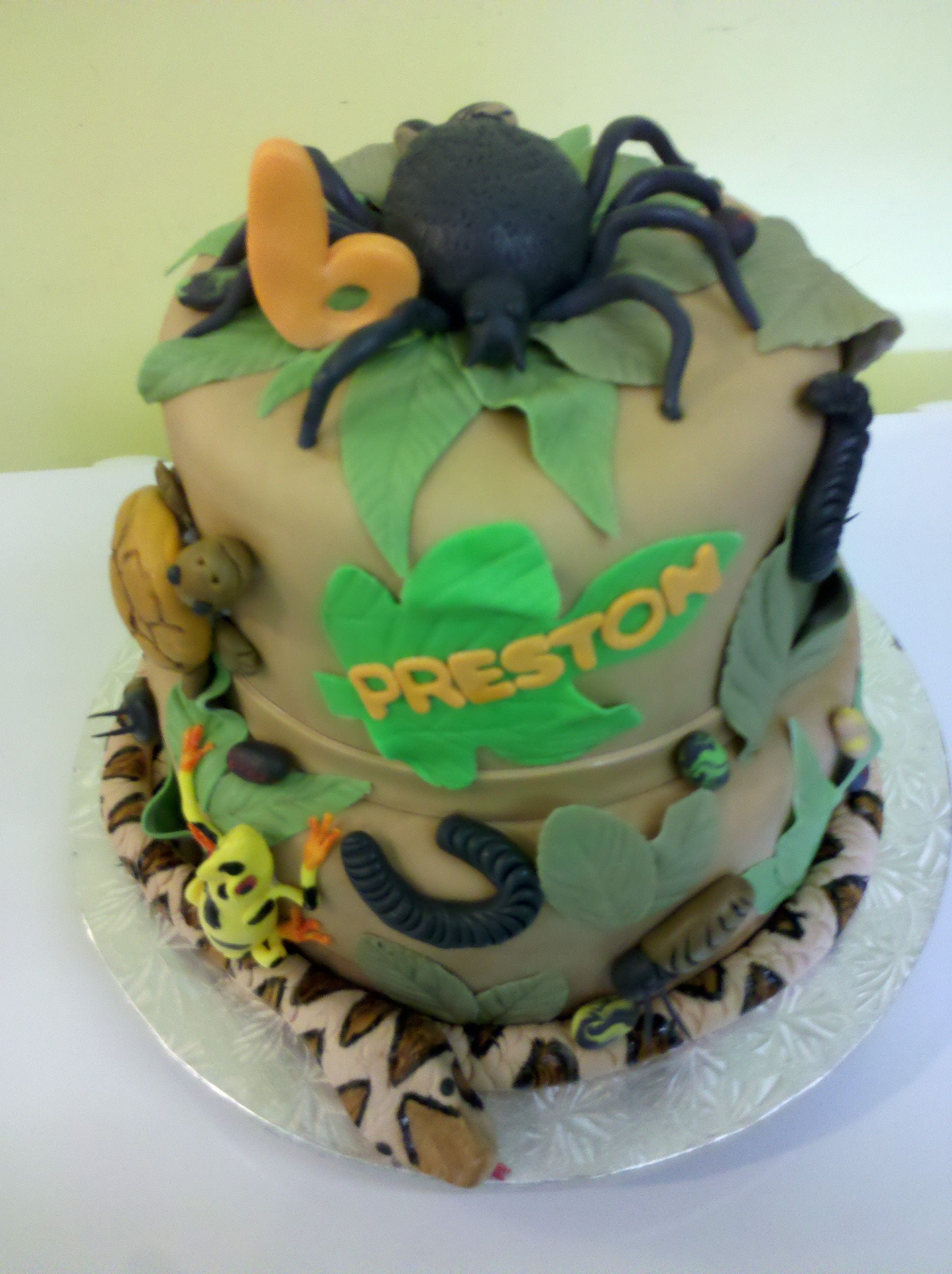 Creepy Crawly Cake! All is edible! | Animal party | Pinterest