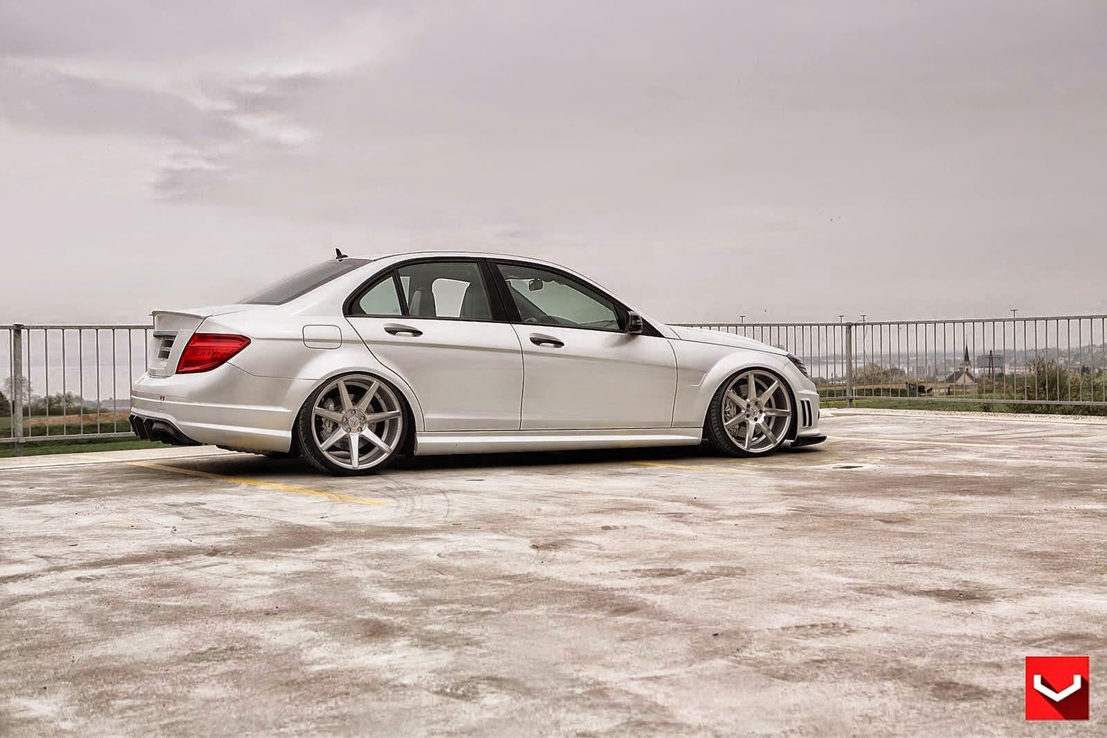 Black bison edition tuning package for the w204 mercedes benz c class - Mercedes Benz C Class On Cv7 By Vossen