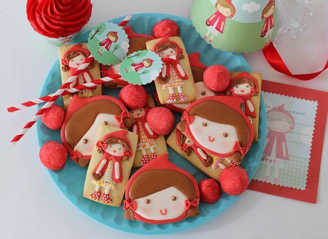 Postreadicci U00f3n Galletas Decoradas  Cupcakes Y Pops  Galletas Decoradas  Caperucita Roja
