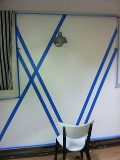 decor4poor painters tape design wall