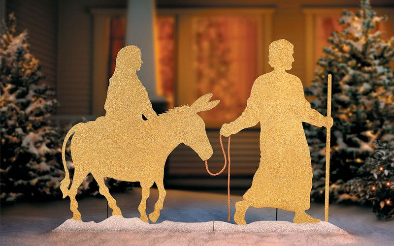 image result for christmas nativity mary joseph decorations