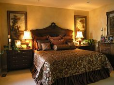 old world romantic decor - Google Search | Tuscan bedroom ...