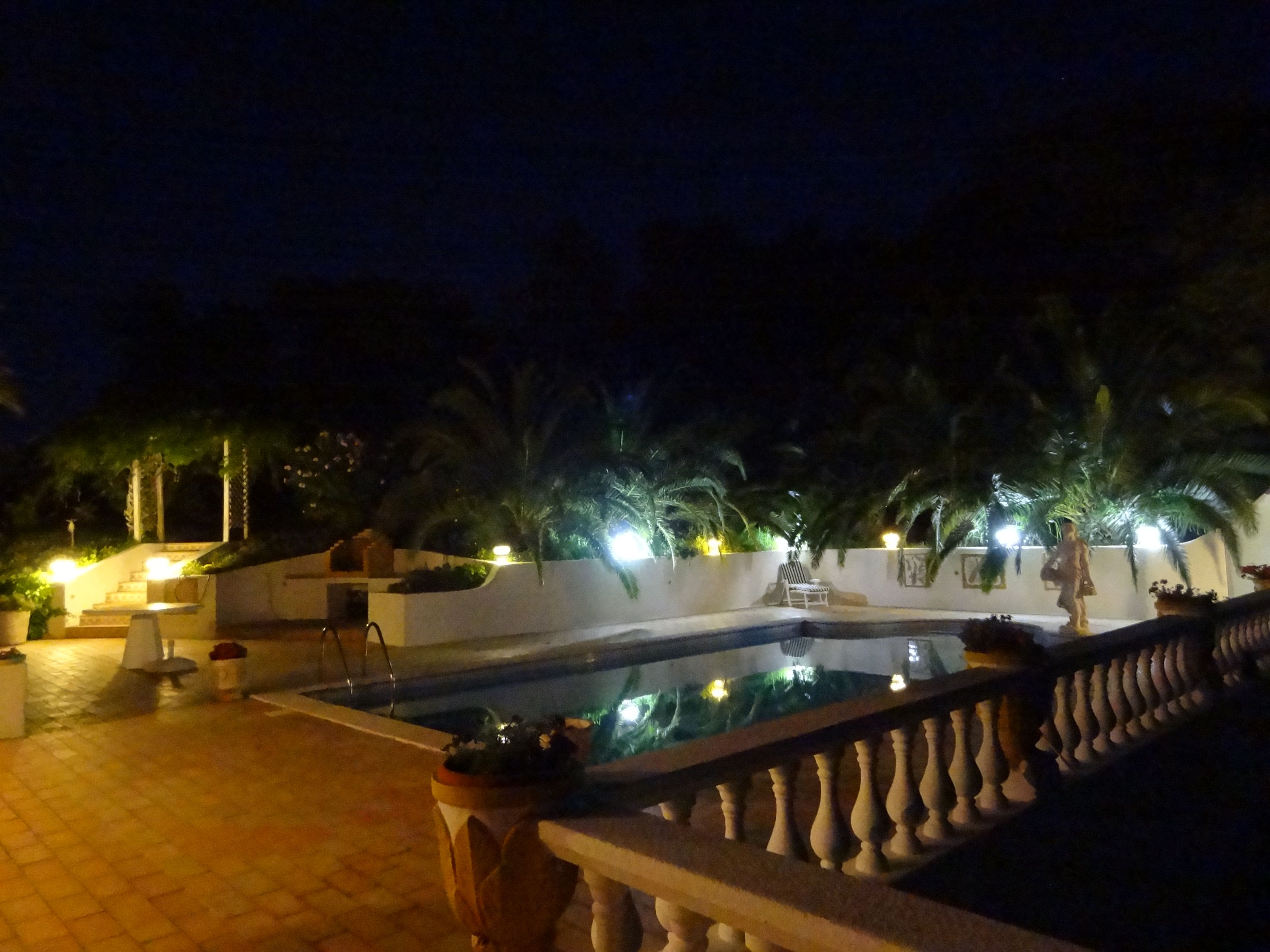 terrace lighting. Beautiful Lighting Around This Pool And Terrace Area. T