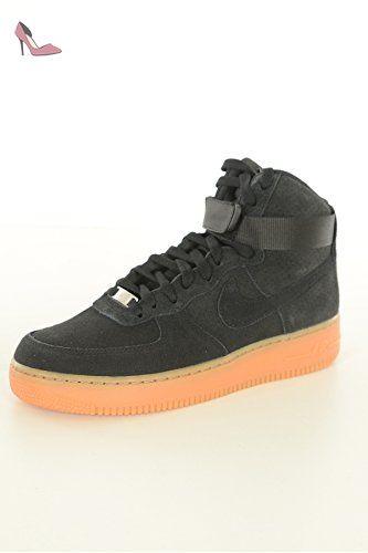 Nike Wmns Air Force 1 HI Suede, Chaussures de Sport Femme, Noir, 42