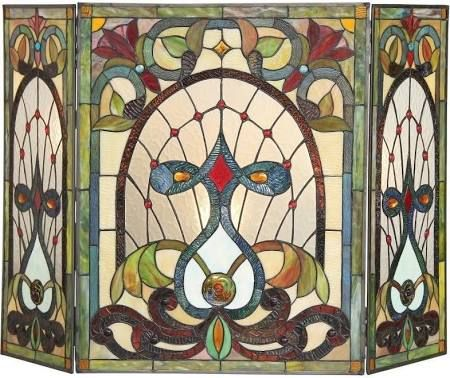 stained glass fireplace screen - Google Search | Wrought ...