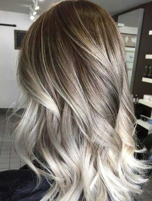 Brown Ash Blonde Platinum Balayage Blend With Images