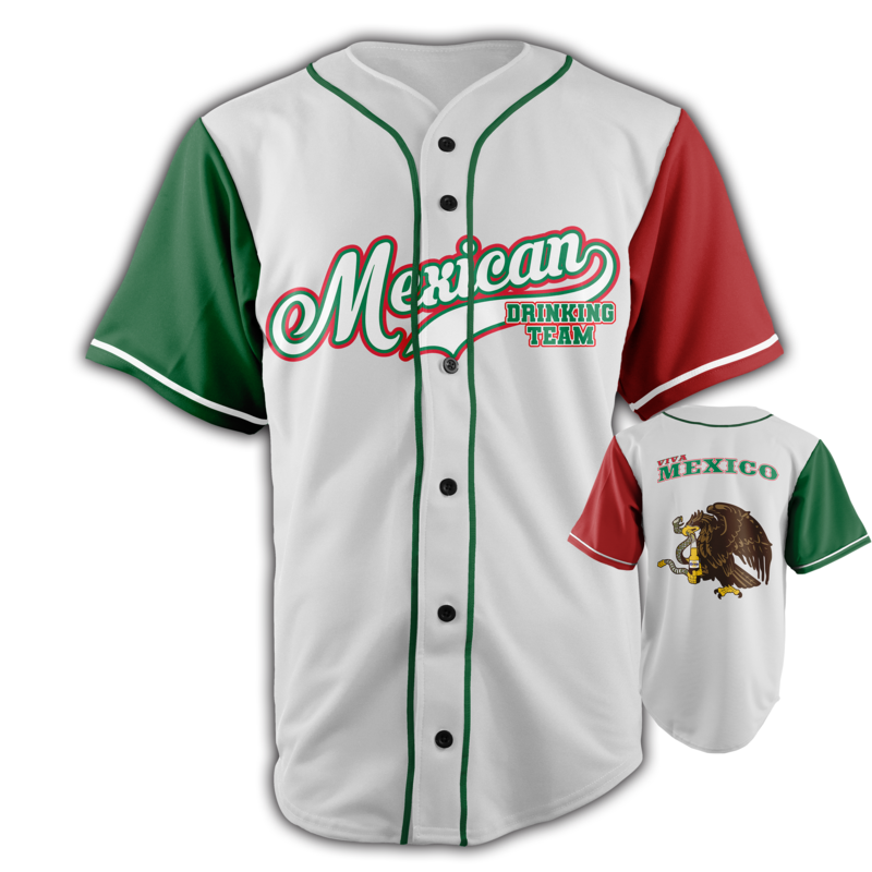 16b29c05 Mexican Drinking Team Baseball Jersey - USA Drinking Team Basketball  Jersey, Shirt