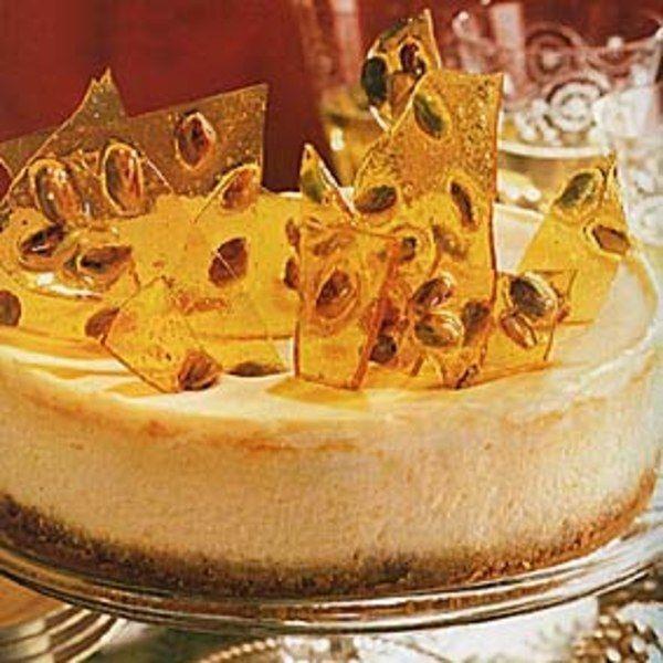 Pistachio Brittle Cheesecake