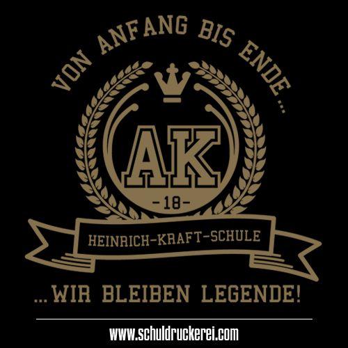 Einmal Legende Immer Legende Ak18 Abschlussshirts