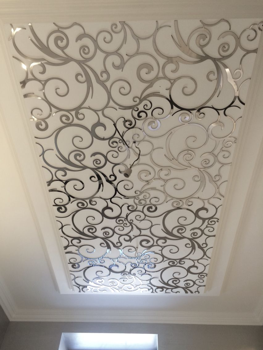 Stainless steel laser cut ceiling walls ceilings for Laser faux plafond
