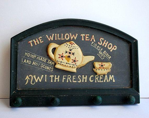 Shabby Chic Key Holder Vintage Tea Shop Cottage by honeyandsea, $30.00