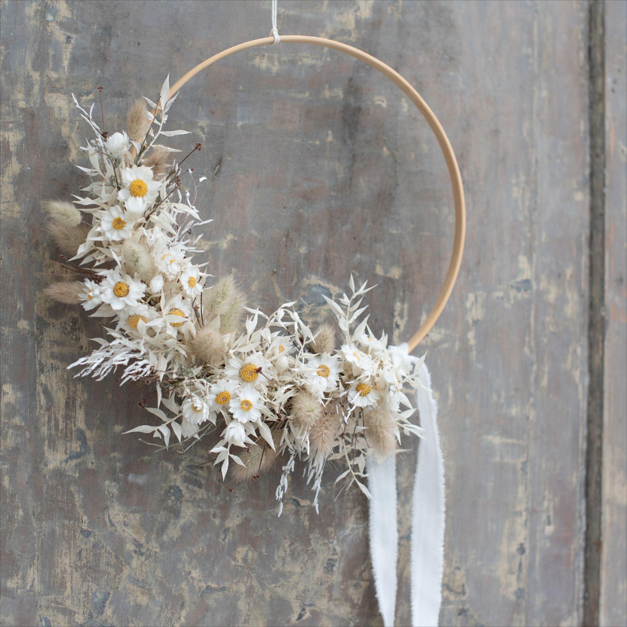 Photo of Dried flowers floral hoop