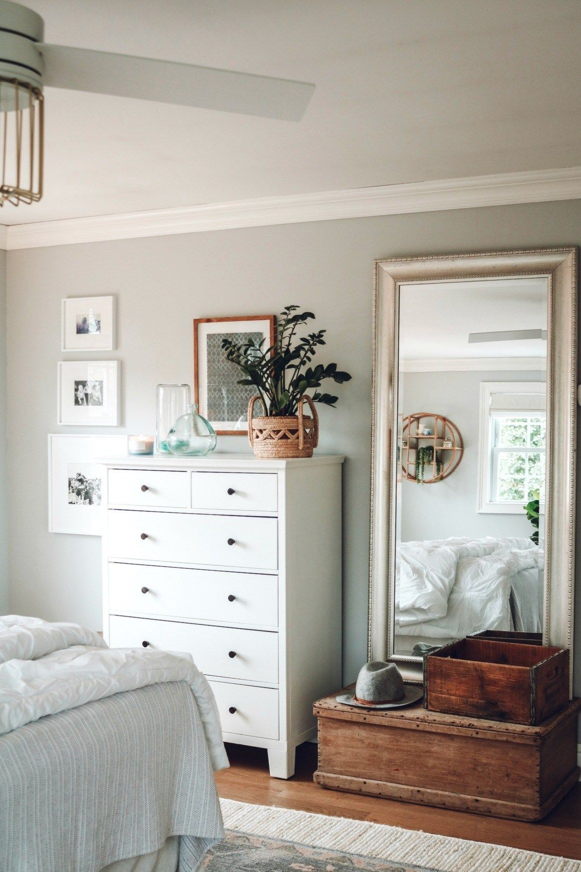 Master Bedroom Makeover with Home Office - Nesting With Grace