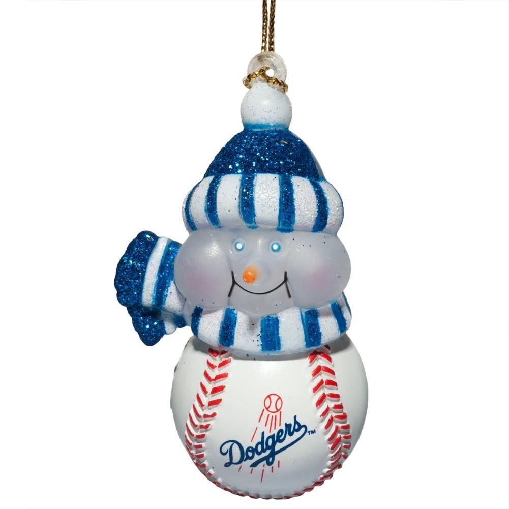 Los Angeles Dodgers - Logo All-Star Light-Up Snowman Ornament | Los ...