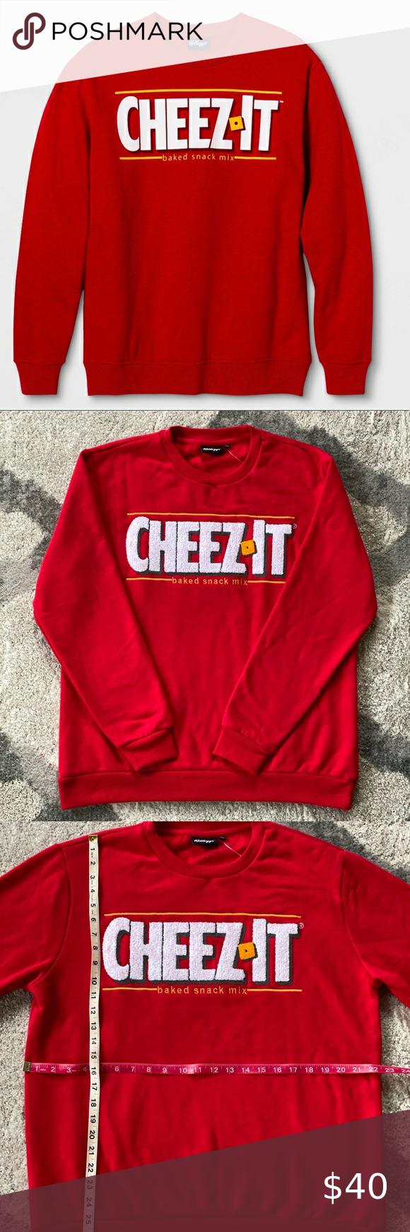 Nwt Kellogg S Cheez It Logo Crewneck Lg Clothes Design Sweatshirt Shirt Fashion