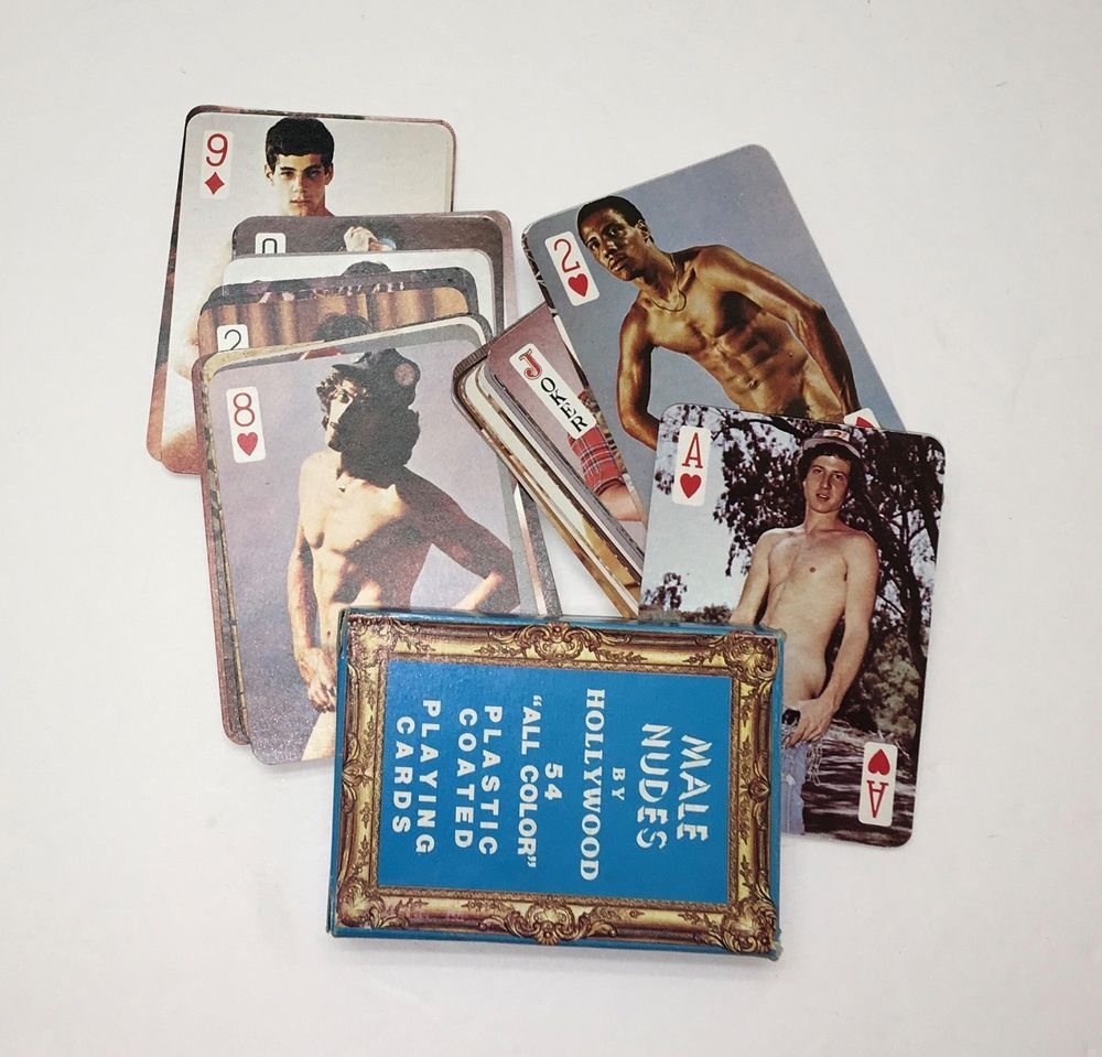 Antique nude playing cards