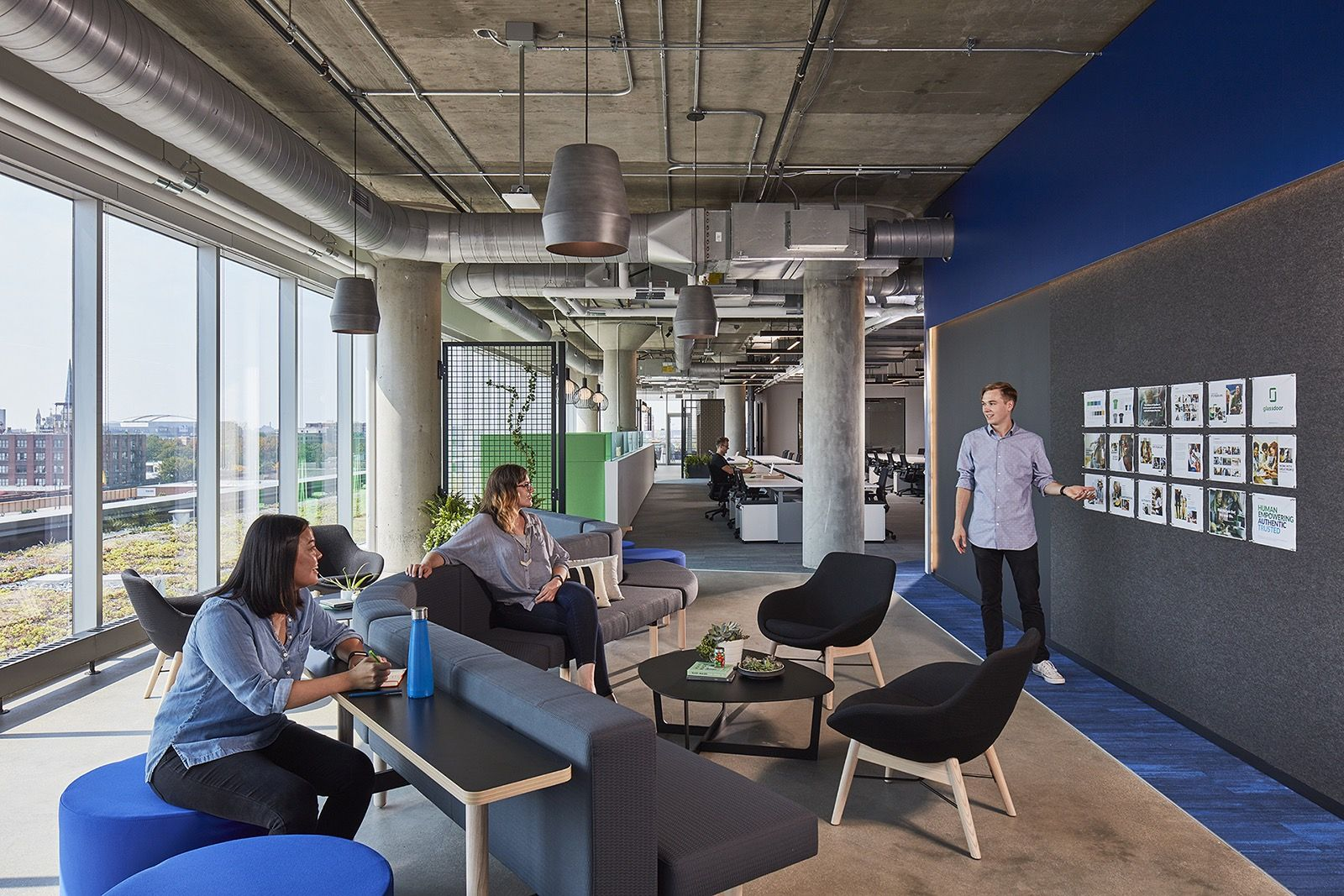 A Tour of Glassdoors Sleek New Chicago Office Workplace Chicago