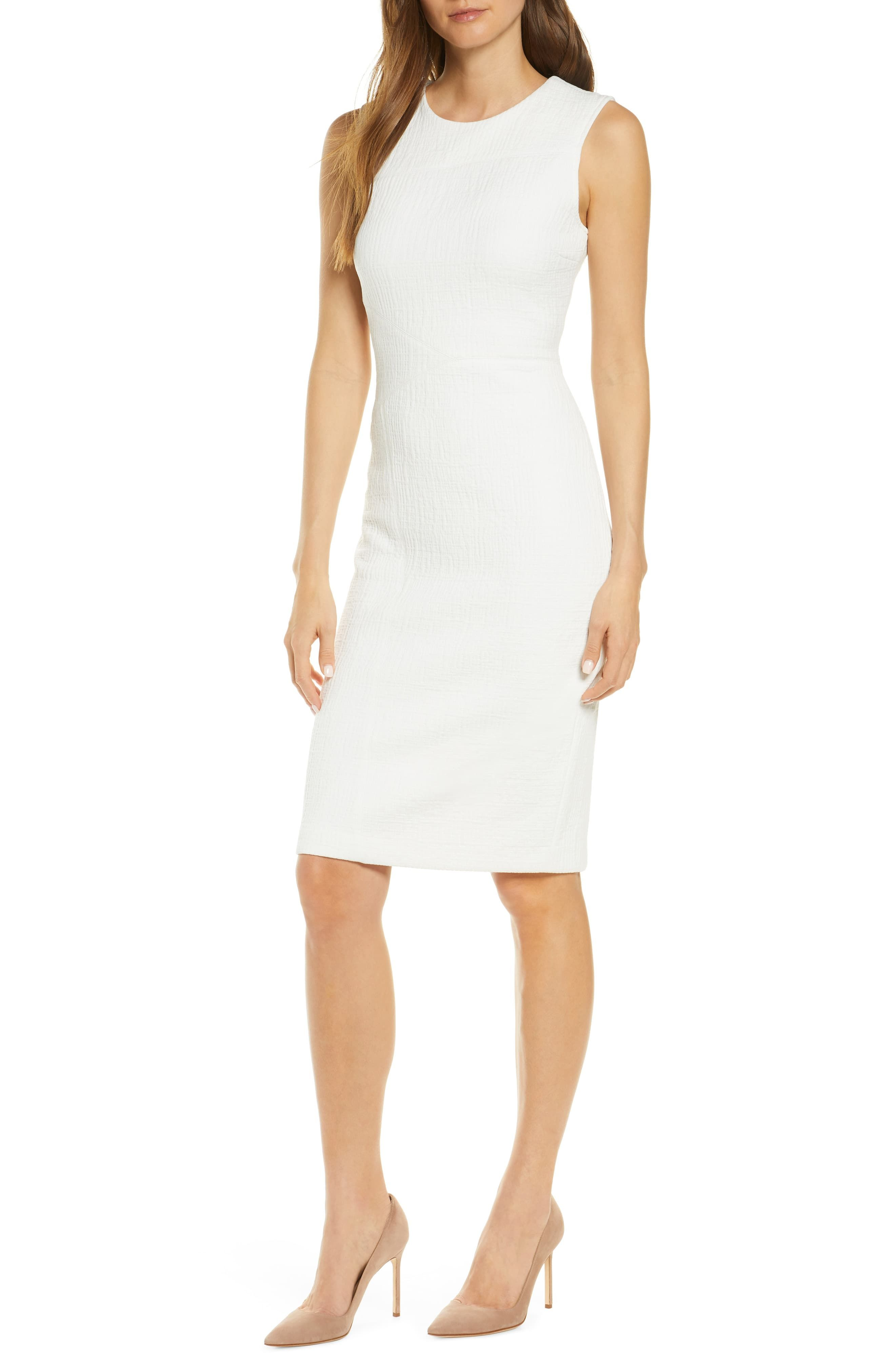 Forest Lily Textured Sleeveless Sheath Dress Nordstrom Sleeveless Sheath Dress White Turtleneck Dress Turtleneck Dress Sleeveless [ 4048 x 2640 Pixel ]