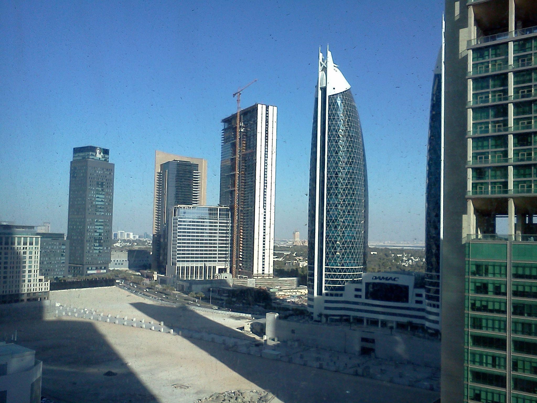 Dubai near Financial Centre Metro. View from Oliver Tebbit