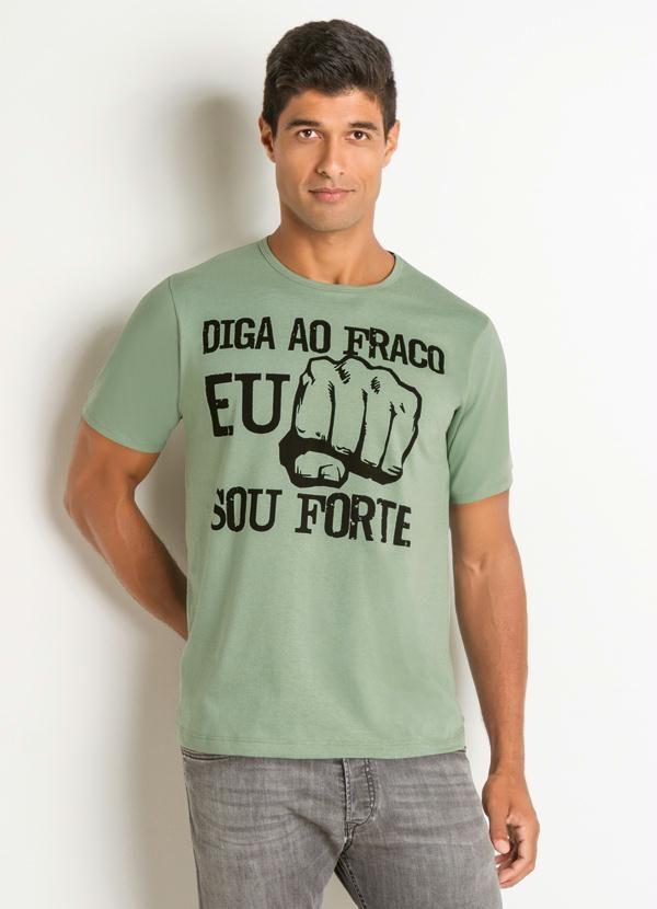 Camiseta com Estampa Frontal Verde - Rosalie  e2057bf865f11