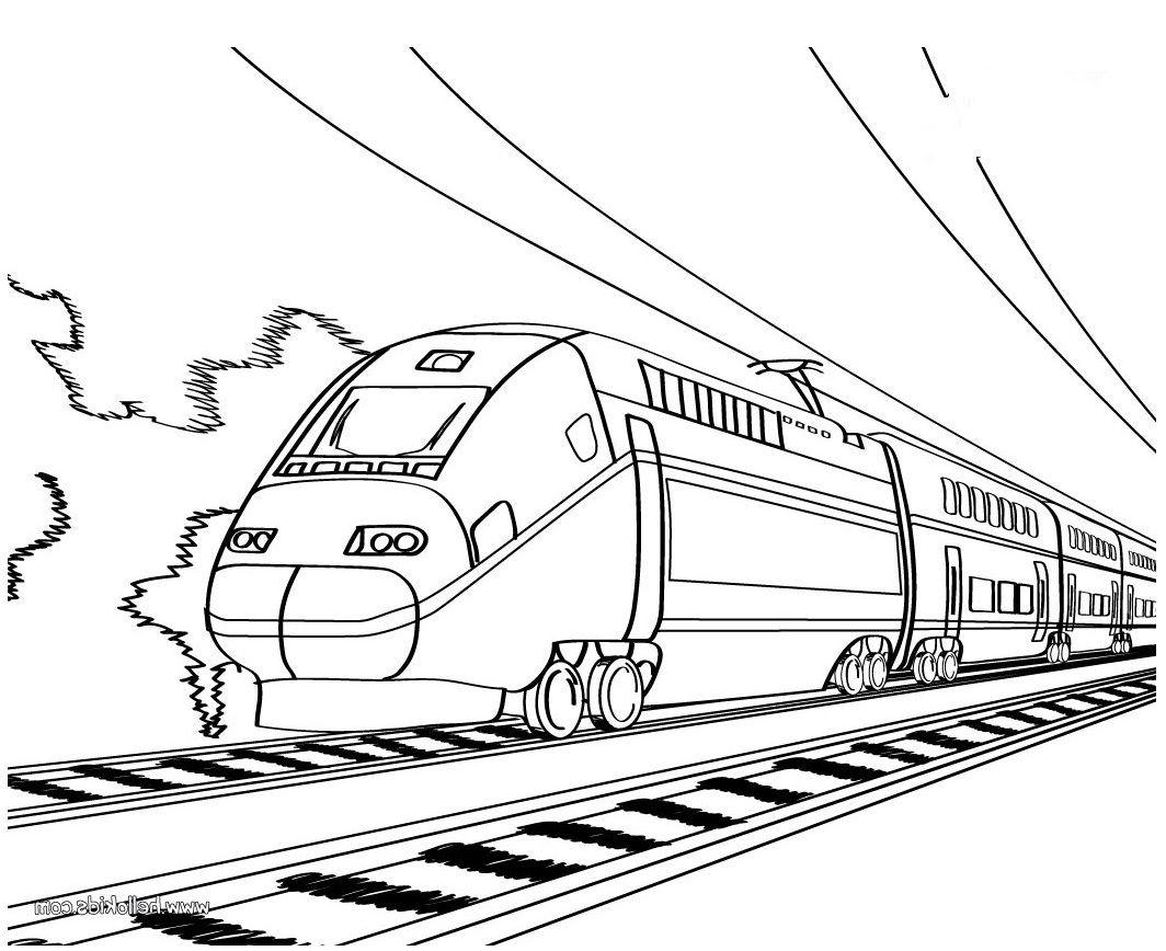 working sheet of bullet train for preschoolers  Train coloring