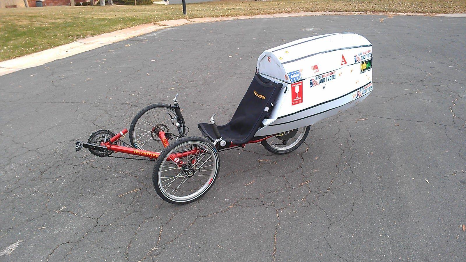 Inexpensive Lightweight Recumbent Fairing Bicycle Art Trike Travel Tours