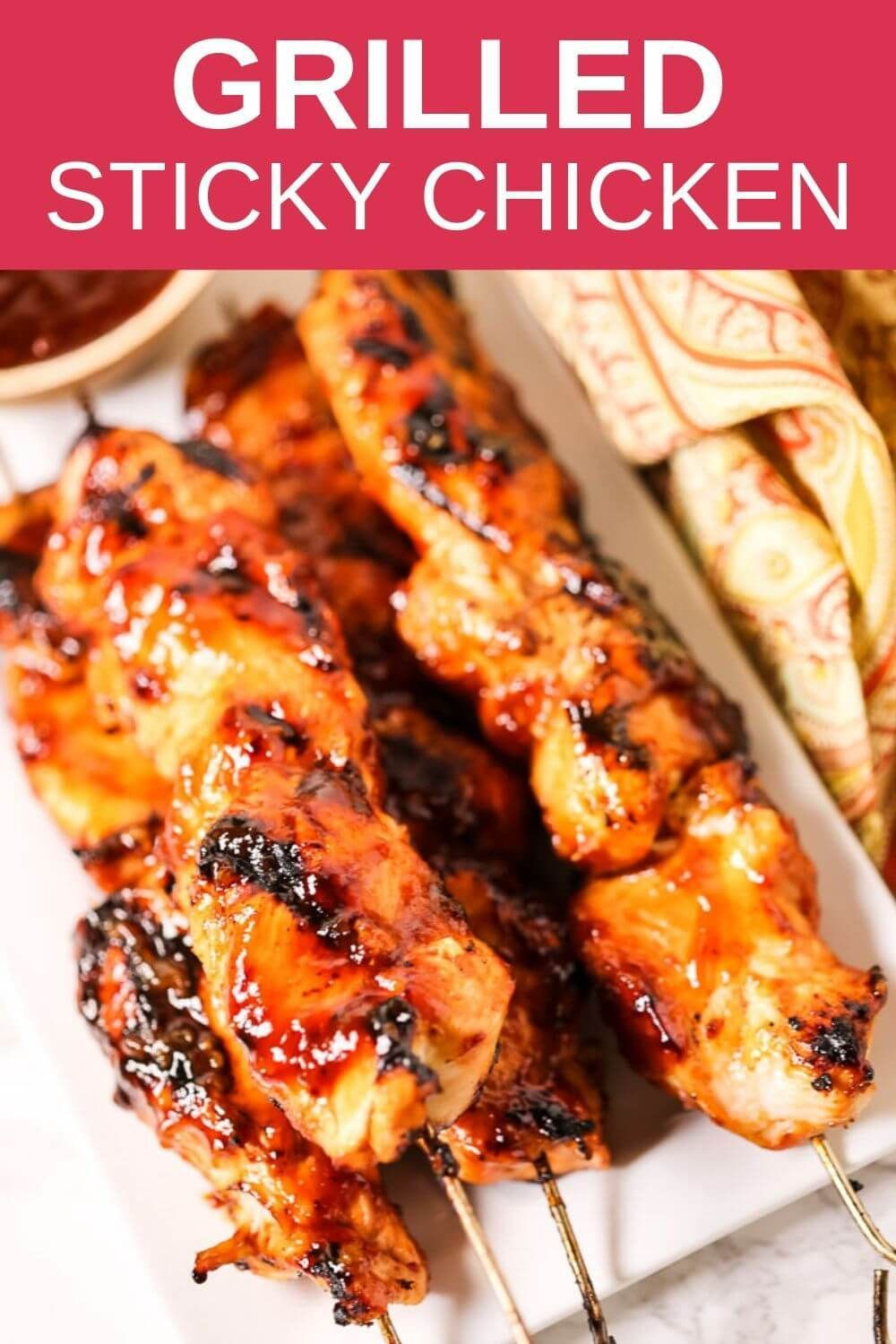 Grilled Sticky Chicken Kabobs | It Is a Keeper