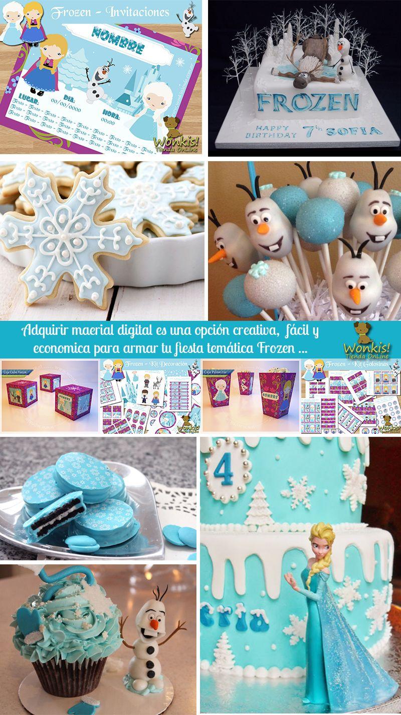 Frozen invitaci n infantil el reino de hielo frozen esta - Ideas para fiestas infantiles en casa ...