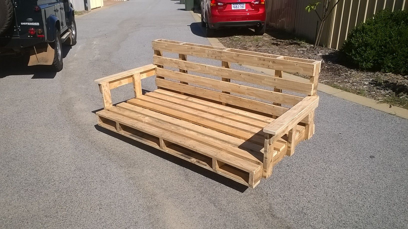 Large Pallet Swing Seat Holds A Single Mattress  # Muebles Tipo Wimpy