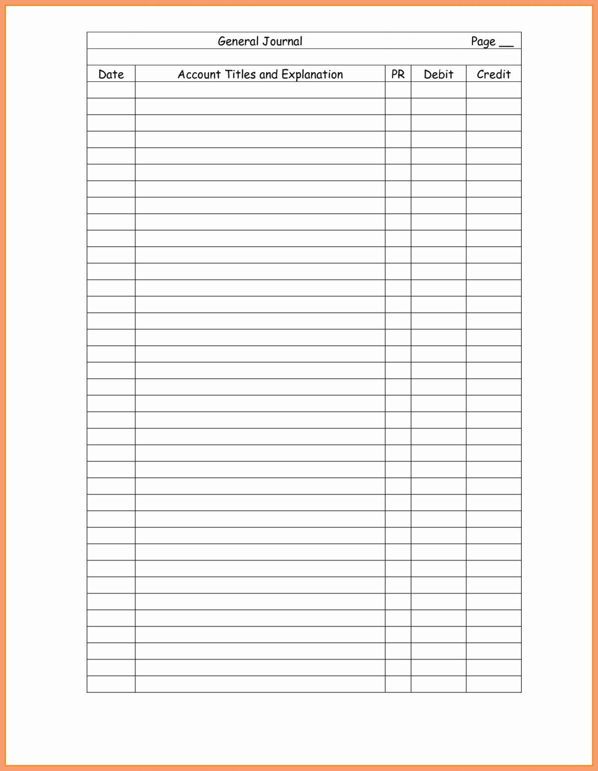 Double Entry Accounting Worksheet
