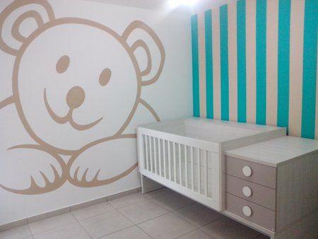 Paredes decoradas para el beb bbv bebe decoracion for Decoracion paredes habitacion bebe nina