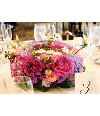 Wedding Centerpiece Wreath Floral Arrangement