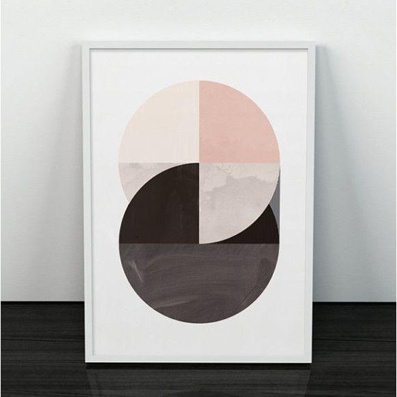 Scandi style geometric art print hardtofind geometric printsgeometric wallbeautiful