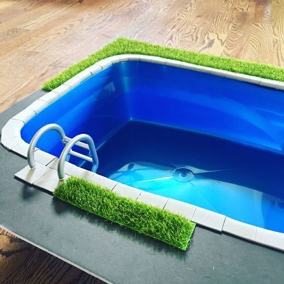 Diy Miniature Doll Swimming Pool And Patio Diy Barbie Furniture Miniature Dolls Barbie House