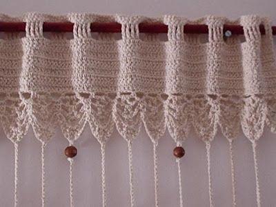 Cortinas tejidas a crochet con patrones gratuitos ~ lodijoella ...
