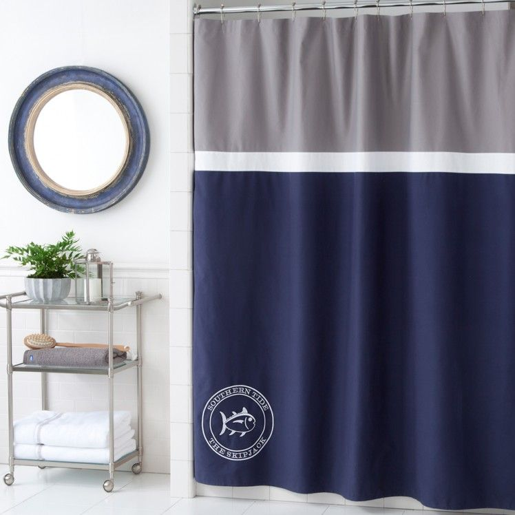 The Southern Tide Starboard Shower Curtain completes all nautical ...